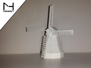 Windmill / Windmolen in White Natural Versatile Plastic