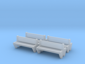 TJ-H04555x4 - bancs de quai en beton, doubles in Smooth Fine Detail Plastic