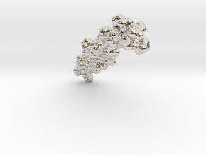 Collagen0.75 in Rhodium Plated Brass