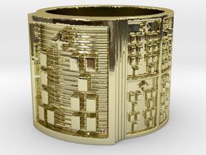 IKAOGUNDA Ring Size 11-13 in 18k Gold Plated Brass: 12 / 66.5