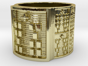 IKATRUPON Ring Size 13.5 in 18k Gold Plated Brass