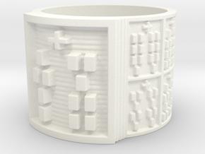 IKATURA Ring Size 14 in White Processed Versatile Plastic