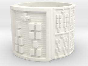 OTRUPONKOSO Design Ring Size 14 in White Processed Versatile Plastic