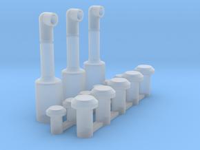Dakonderdeeltjes Blokpost Baarn in Smooth Fine Detail Plastic
