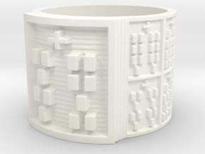 OTRUPONBALOFUN Ring Size 14 in White Processed Versatile Plastic