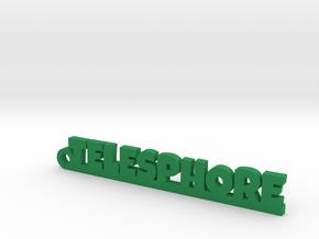 TELESPHORE Keychain Lucky in Green Processed Versatile Plastic