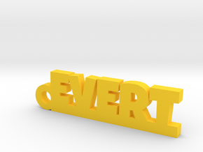 EVERT Keychain Lucky in Yellow Processed Versatile Plastic