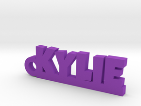 KYLIE Keychain Lucky in Purple Strong & Flexible Polished