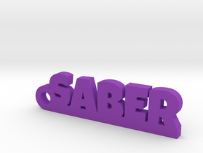 SABER Keychain Lucky in Purple Processed Versatile Plastic
