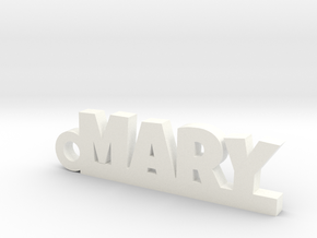 MARY Keychain Lucky in White Processed Versatile Plastic