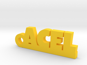 ACEL Keychain Lucky in Yellow Processed Versatile Plastic
