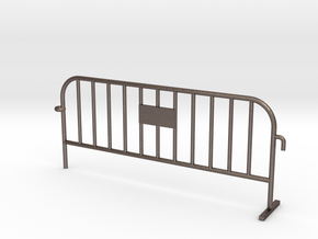 1:50 STEEL Small construction fence one feet / Bau in Polished Bronzed Silver Steel