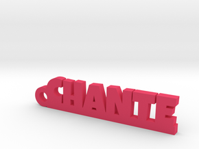 CHANTE Keychain Lucky in Pink Processed Versatile Plastic