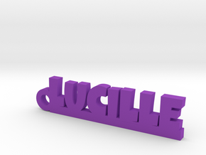 LUCILLE Keychain Lucky in Purple Processed Versatile Plastic