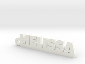 MELISSA Keychain Lucky in White Processed Versatile Plastic