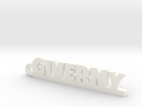 GIVERNY Keychain Lucky in White Processed Versatile Plastic