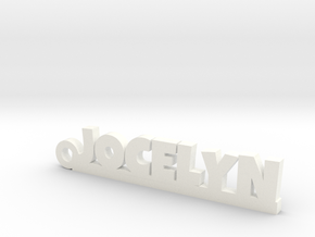 JOCELYN Keychain Lucky in White Processed Versatile Plastic