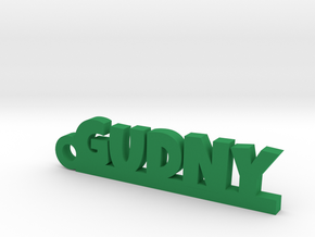 GUDNY Keychain Lucky in Green Strong & Flexible Polished