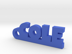COLE Keychain Lucky in Blue Strong & Flexible Polished