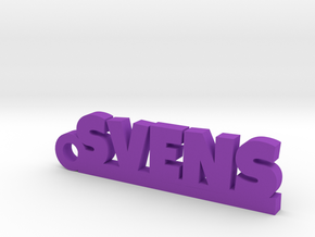 SVENS Keychain Lucky in Purple Strong & Flexible Polished