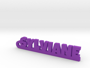 SYLVIANE Keychain Lucky in Purple Processed Versatile Plastic