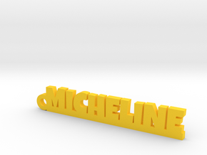 MICHELINE Keychain Lucky in Yellow Processed Versatile Plastic