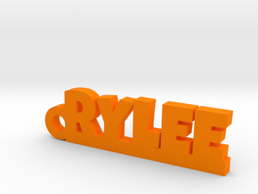 RYLEE Keychain Lucky in Orange Strong & Flexible Polished