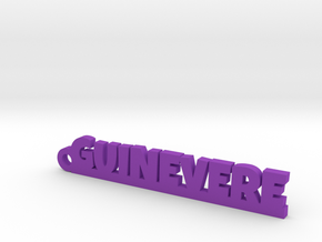 GUINEVERE Keychain Lucky in Purple Processed Versatile Plastic