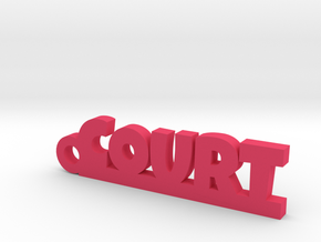 COURT Keychain Lucky in Pink Processed Versatile Plastic