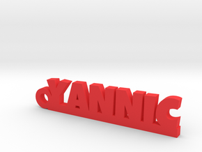 YANNIC Keychain Lucky in Red Processed Versatile Plastic