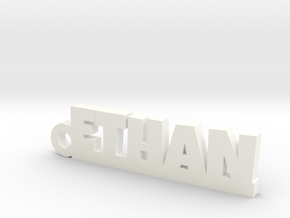 ETHAN Keychain Lucky in White Processed Versatile Plastic
