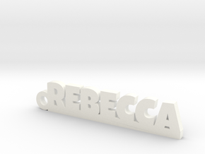 REBECCA Keychain Lucky in White Strong & Flexible Polished