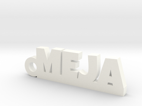 MEJA Keychain Lucky in White Processed Versatile Plastic