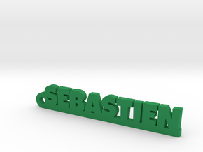 SEBASTIEN Keychain Lucky in Green Strong & Flexible Polished
