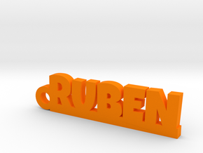 RUBEN Keychain Lucky in Orange Processed Versatile Plastic