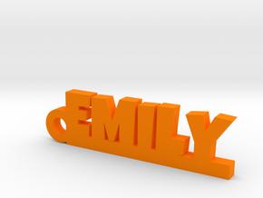 EMILY Keychain Lucky in Orange Processed Versatile Plastic