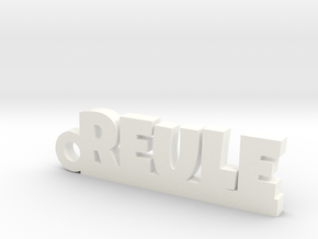 REULE Keychain Lucky in White Processed Versatile Plastic