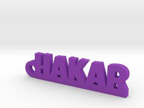 HAKAR Keychain Lucky in Purple Processed Versatile Plastic