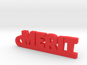 MERIT Keychain Lucky in Red Processed Versatile Plastic