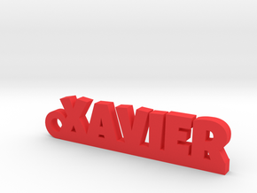 XAVIER Keychain Lucky in Polished Bronzed Silver Steel
