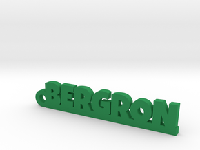 BERGRON Keychain Lucky in Green Strong & Flexible Polished