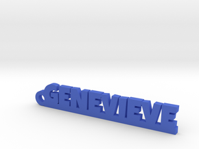 GENEVIEVE Keychain Lucky in Blue Strong & Flexible Polished