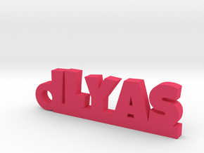 ILYAS Keychain Lucky in Pink Processed Versatile Plastic