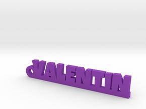 VALENTIN Keychain Lucky in Purple Processed Versatile Plastic