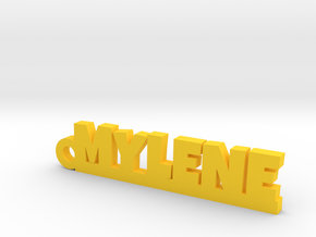 MYLENE Keychain Lucky in Yellow Processed Versatile Plastic