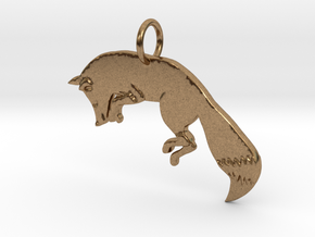The fox in Natural Brass