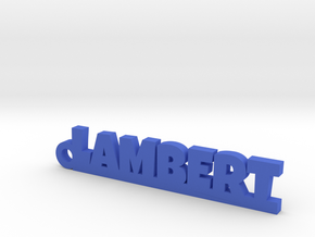LAMBERT Keychain Lucky in Blue Strong & Flexible Polished