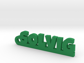 SOLVIG Keychain Lucky in Green Strong & Flexible Polished
