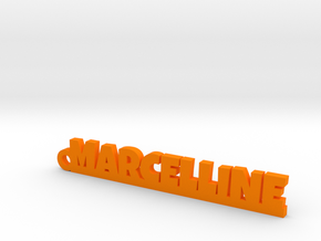 MARCELLINE Keychain Lucky in Orange Strong & Flexible Polished