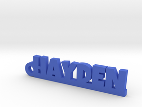 HAYDEN Keychain Lucky in Blue Strong & Flexible Polished